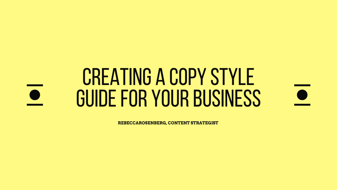 creating a copy style guide for your business