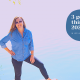 picture of woman standing on a rock at the edge of a lake wearing sunglasses with text 3 good things in 2020 in life and in business